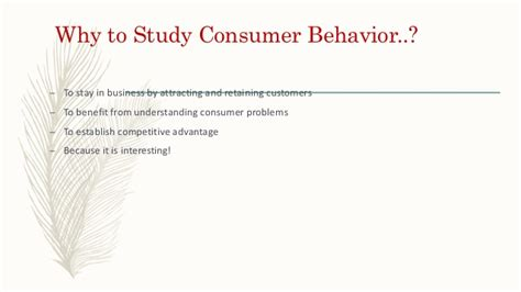 Consumer Behaviour Notes For Mba by Basics Of Consumer Behaviour