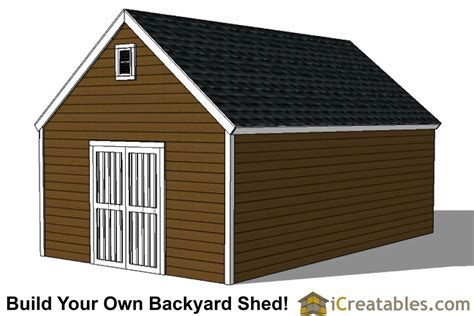 colonial style shed plans build  large shed