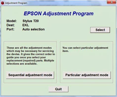 Printer Epson Stylus T20e cara reset epson stylus t20e belajar komputer dan servis printer