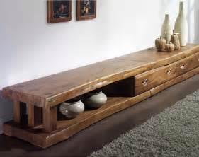 meuble tv bois ancien artzein