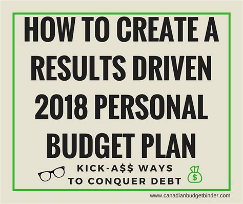 how to make a home budget plan how to create a results driven 2018 personal budget plan