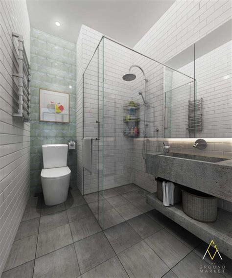 design interior kamar mandi 8 elemen stylish kontemporer dalam kamar mandi arsitag