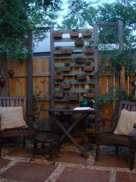 living plant wall  built  reclaimed fence