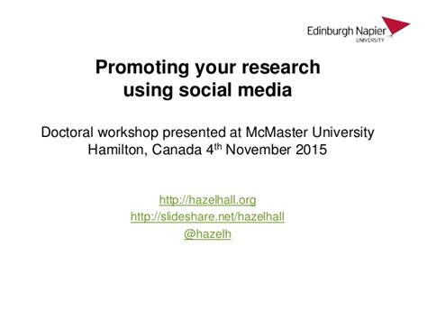 phd thesis about social media promoting your research using social media
