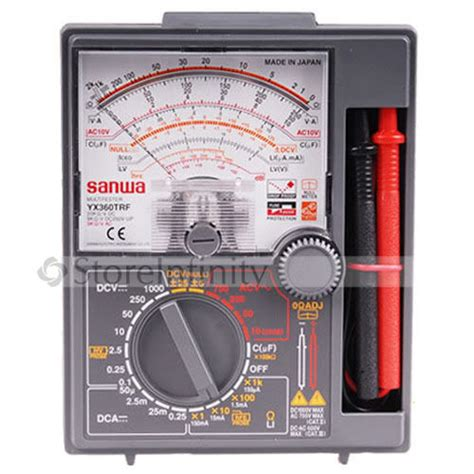 Multitester Sanwa Yx 360trd new japan sanwa yx360trf analog multimeter tester dc yx 360trf in laser levels from tools on