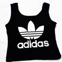 adidas crop top in black