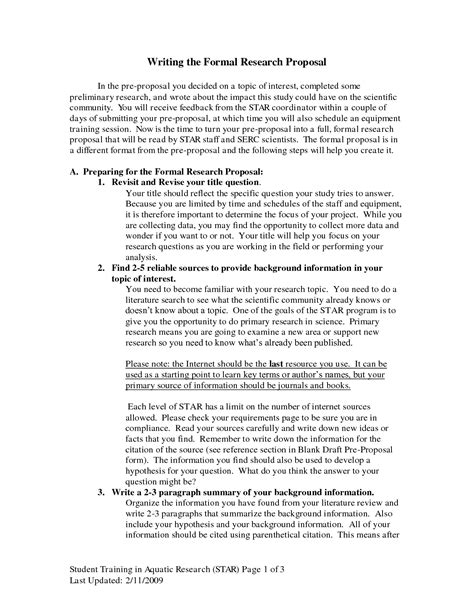 format of research proposal writing sle science research proposal paper bamboodownunder com