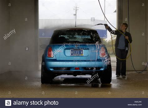do it yourself wash washing a mini cooper s at a do it yourself car wash stock photo royalty free