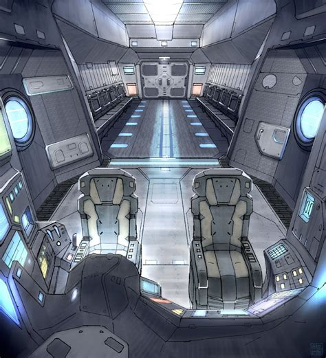 Ship Interior by Fall Drop Ship Interior By Hideyoshi On Deviantart