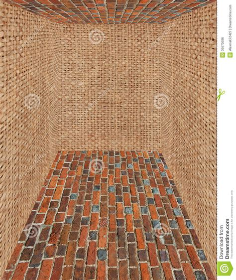 what are walls made of room made from brick and sack walls stock photo image