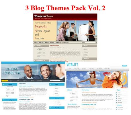 blog theme purchase buy 3 blog themes pack with plr download ebooks