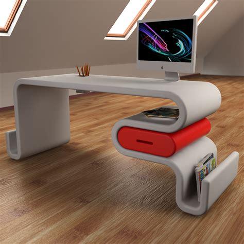 scrivanie casa design scrivania design flex forma ondulata con cassetto laterale