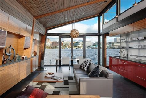 floating home interiors for west coast living life in a floating house