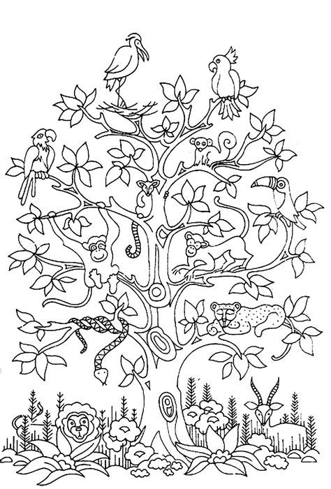 coloring pages for adults difficult animals free coloring page 171 coloring adult difficult tree bird