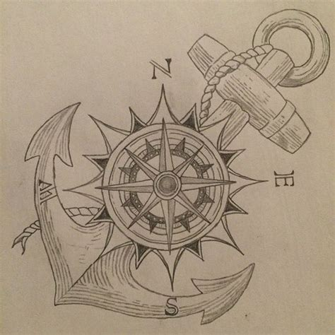 compass tattoo liner compass and anchor tatoo pinterest ancres id 233 es de