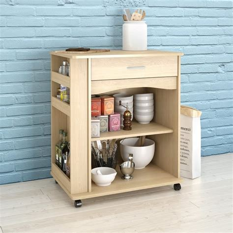 Kitchen Islands At Lowes by Shop Nexera Brown Scandinavian Microwave Cart At Lowes Com