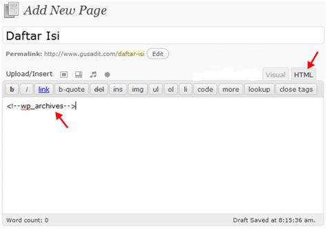 membuat daftar isi di wordpress membuat daftar isi di wordpress sumber ilmu dan informasi
