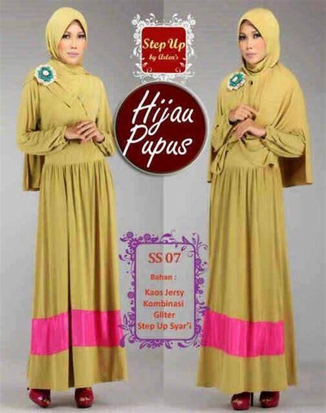 Gamis Syar I Hijau Pupus su syarifah hijau pupus baju muslim gamis modern