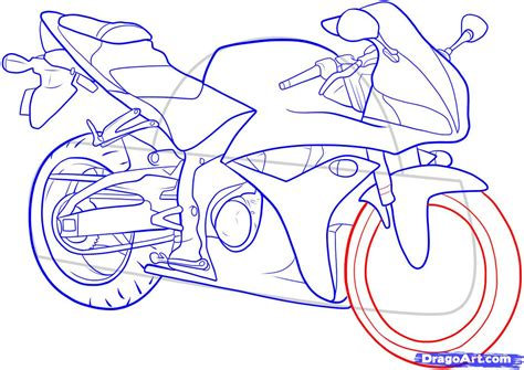 how to draw a motocross bike how to draw a motorcycle with a rider