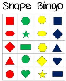 shapes and colors piles everywhere shape bingo