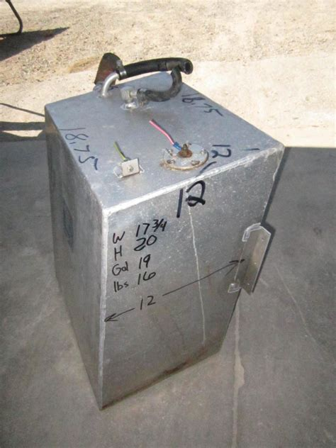 18 gallon boat fuel tank aluminum boat gas tank 19 gallon 18 x 20 x 12 green bay