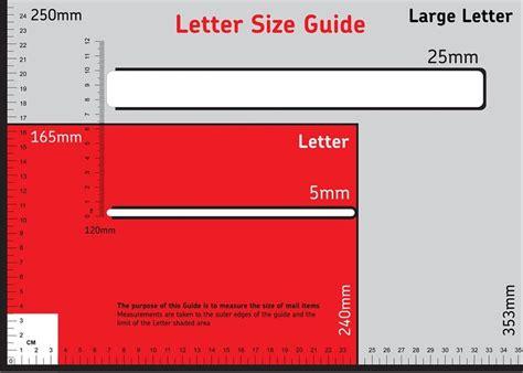 uk postal size measuring ruler pricing proportion