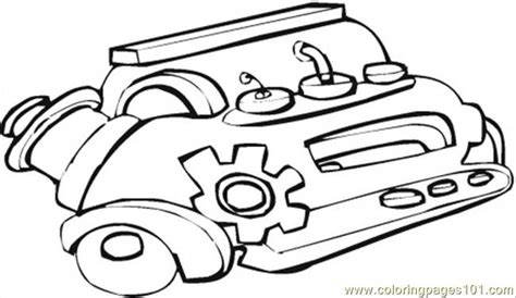 Engine Coloring Page car engine