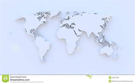 royalty free world map world map blue 3d royalty free stock photos image 32415498