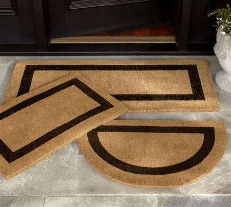 door mat rugs picture frame doormat pottery barn