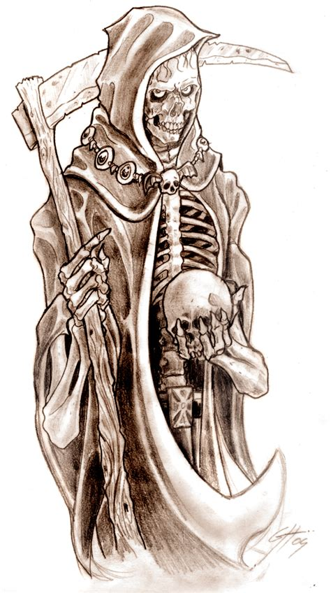 reaper tattoo design grim reaper images designs