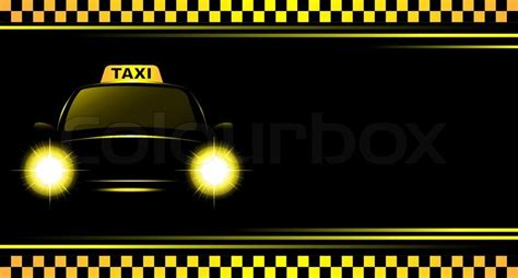 Outdoor Entertainment Area - background with taxi sign and cab stock vector colourbox