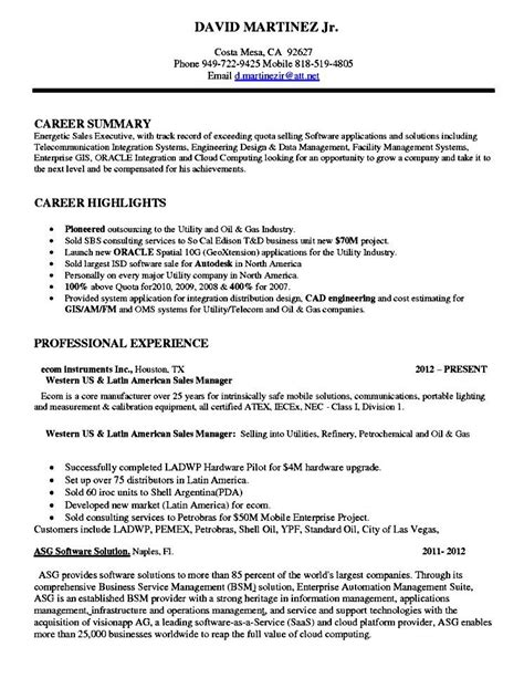 Sle Software Resume by Software Sales Executive Resume Free Sles Exles Format Resume Curruculum Vitae