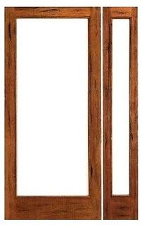Solid Wood Patio Doors by Prehung Rustic 1 Lite Patio Solid Wood Ig Glass Side Light