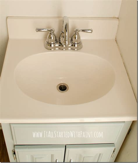 bathroom sink pulling away from wall how to paint a sink