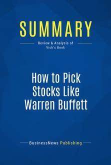 Ebook How To Choose Winning Stocks how to stocks like warren buffett 187 mustreadsummaries learn from the best