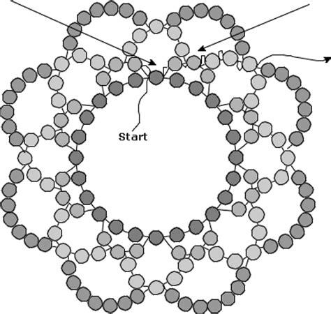seed bead netting patterns circular chevron bead stitch bead