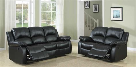 Black Reclining Sofa Set Homelegance Cranley Reclining Sofa Set Black Bonded Leather U9700blk 3 Homelement