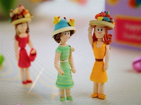quilling design doll made by claire willis 3d quilling dolls pinterest