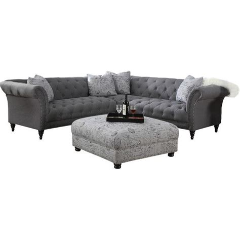 joss and main sectional sally 102 tufted sectional sofa joss main living