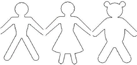 doll cut out template paper dolls