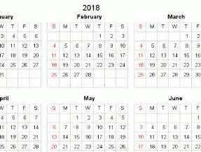 2018 Calendar Grid Printable Year Calendars For 2018