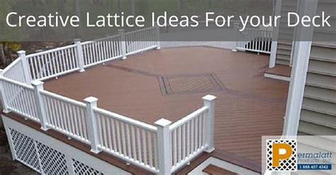 Deck Railing Designs With Lattice - creative lattice ideas for your deck