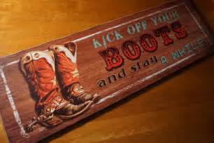 Rodeo Home Decor by Large Kick Off Your Boots Rodeo Cowboy Horse Country