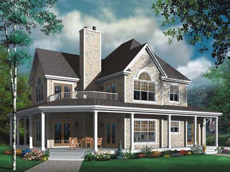 2 Story House Plans With Porches by Two Story House Plans With Wrap Around Porch Two Story