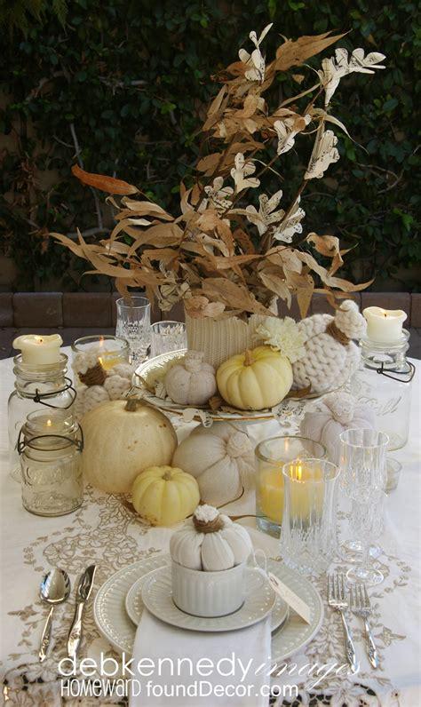vintage white fall tablescapehomewardfounddecor