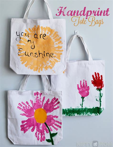 Handmade Mothers Day Ideas - handmade s day gift ideas tote bag