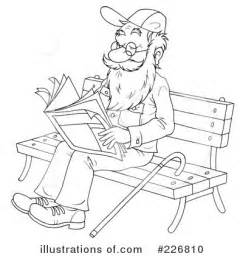 printable coloring pages for senior citizens senior man clipart 226810 illustration by alex bannykh