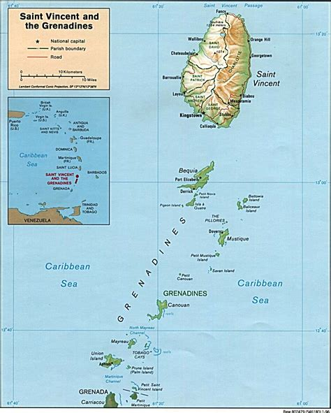 map st vincent and the grenadines nationmaster maps of vincent and the grenadines 2 in total