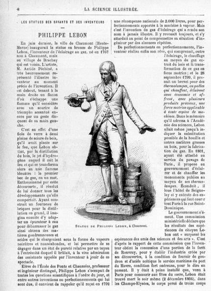 Lebon (Philippe) – le gaz d'éclairage – Brachay | Fontes d
