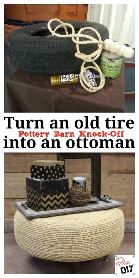 create   stylish tire ottoman